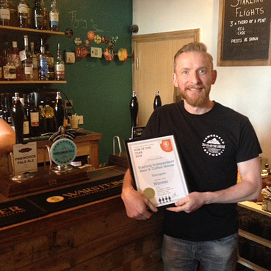 starling beer and coffee house owner with award