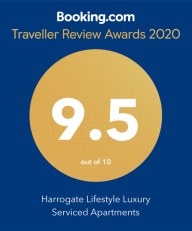 Booking.com Traveller Review Awards 2020 Harrogate Lifestyle Apartments 	Accommodation Harrogate UK