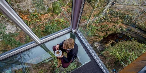how stean gorge cafe glass floor